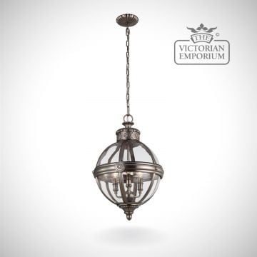 Adam 3 light pendant in Antique Nickel