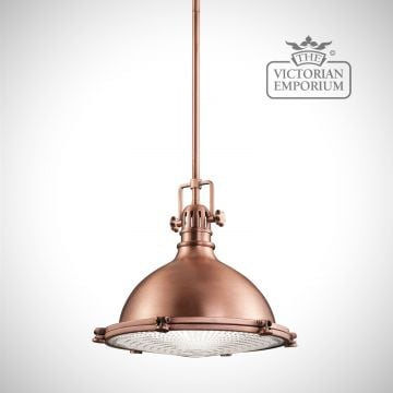Hatters Bay medium pendant in antique copper