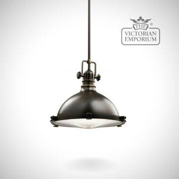 Hatters Bay medium pendant in old bronze
