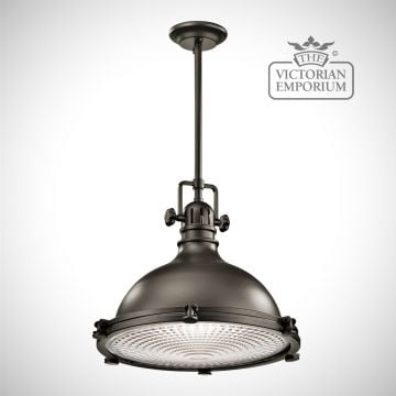 Hatters Bay large pendant in old bronze
