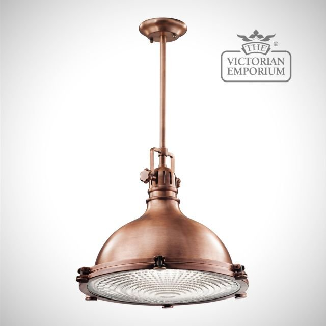Hatters Bay large pendant in antique copper