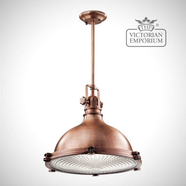 Hatters Bay extra large pendant in antique copper