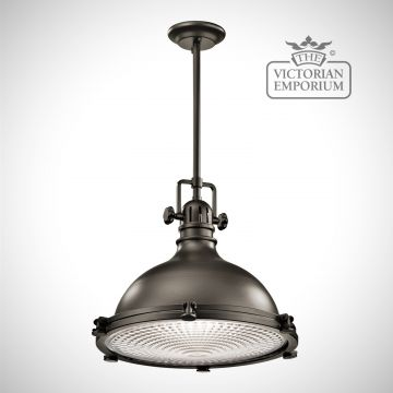 Hatters Bay extra large pendant in old bronze