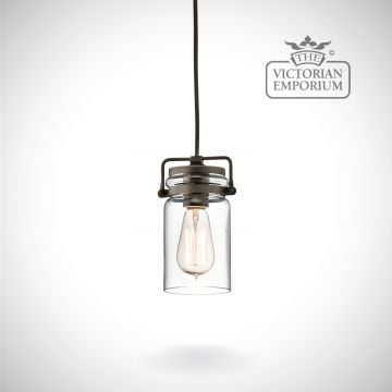 Brinkley mini pendant in old bronze