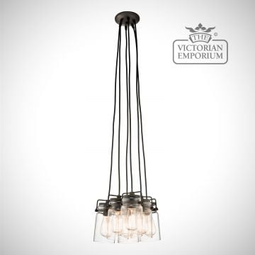 Brinkley 6 light pendant in old bronze