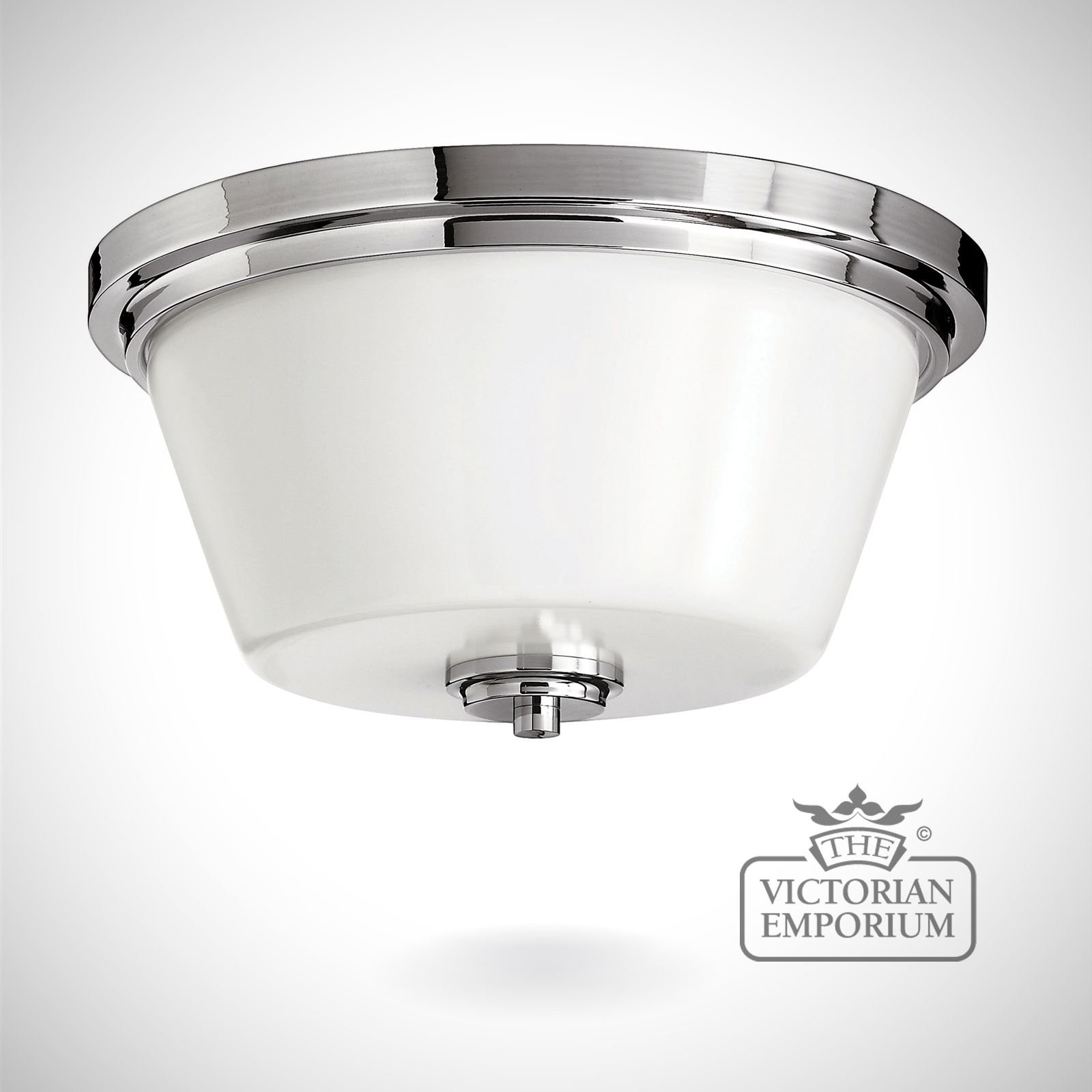 Avon Bathroom Flush Mount Light In Polished Chrome Lights