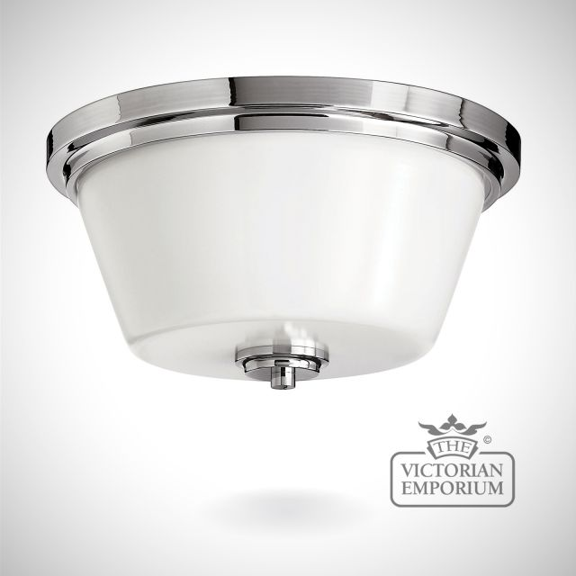 Avon Bathroom flush mount light in polished chrome