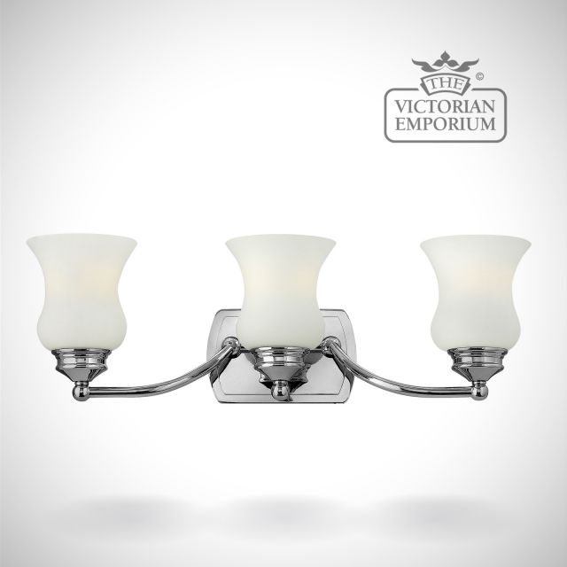 Constance Bathroom triple wall light in polished chrome