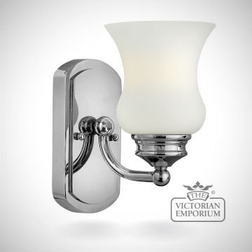 Constance Bathroom single wall light in polished chrome