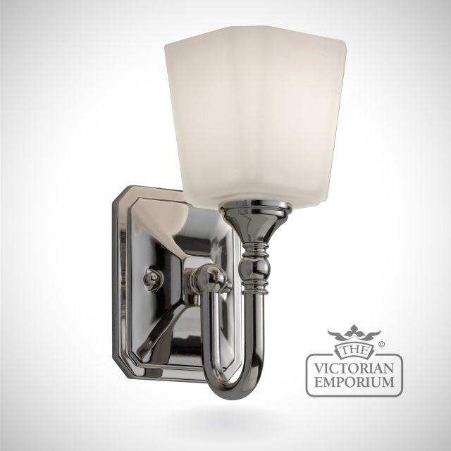 Concord Bathroom single wall light in polished chrome