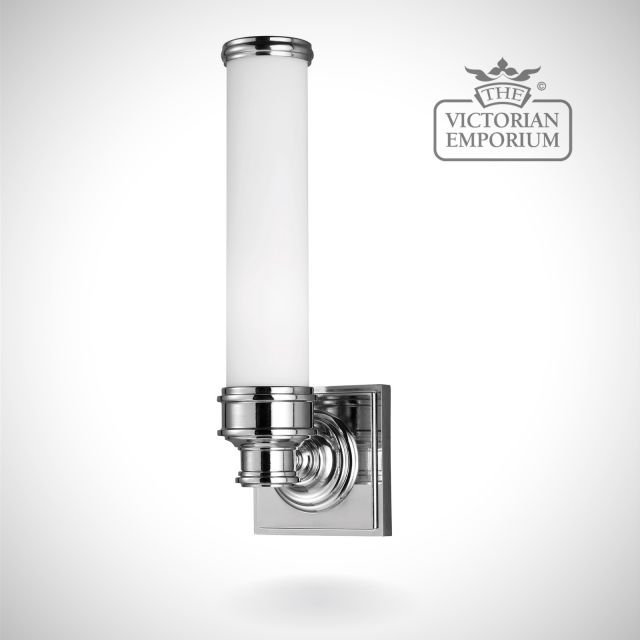 Payne Bathroom single wall light in polished chrome with simple lamp holder