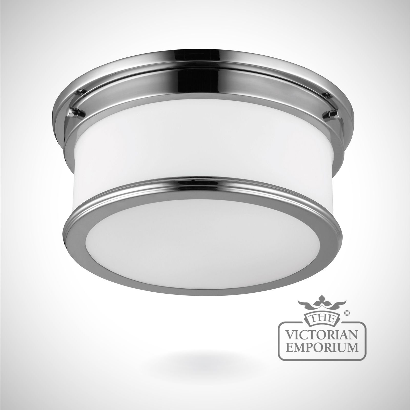 Payne bathroom flush mount light in polished chrome lights - Flush mount bathroom ceiling lights ...