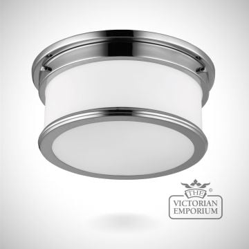 Payne Bathroom flush mount light in polished chrome