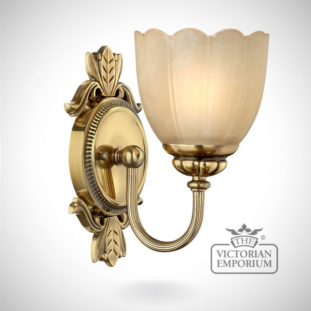 Isabella Bathroom single wall light in brass