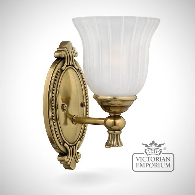 Francoise Bathroom single wall light in brass