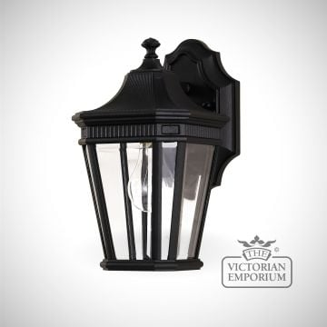 Cotswold small wall lantern in Black