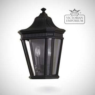 Cotswold half wall lantern in Black