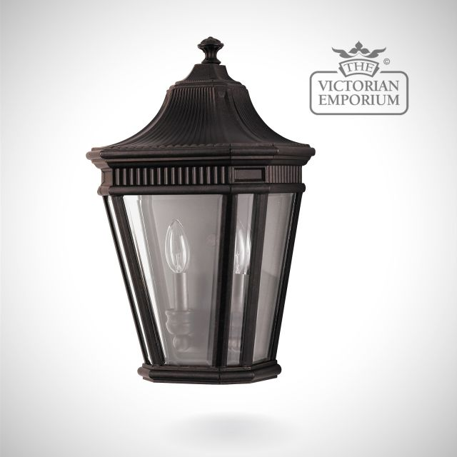 Cotswold half wall lantern in Bronze