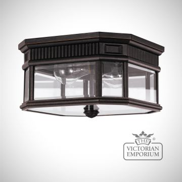 Cotswold Flush Mount Light in Bronze
