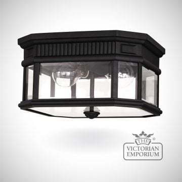 Cotswold Flush Mount Light in Black