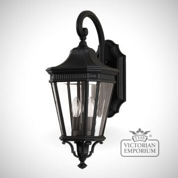 Cotswold medium wall lantern in Black