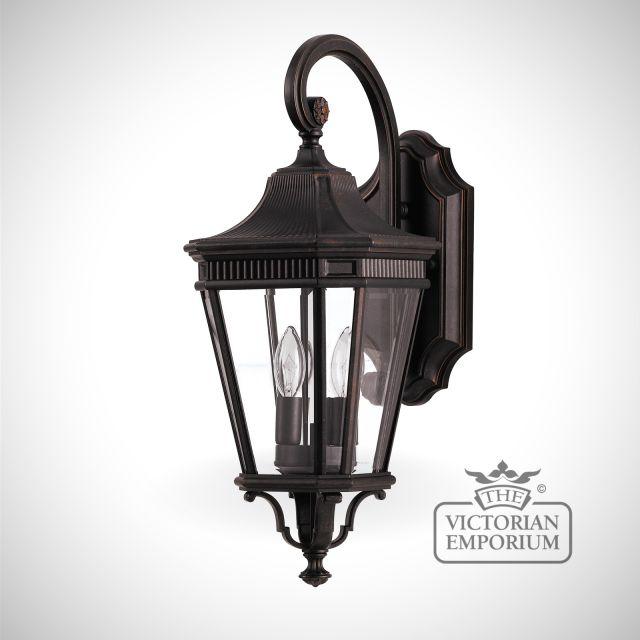 Cotswold medium wall lantern in Bronze