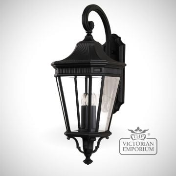 Cotswold large wall lantern in Black