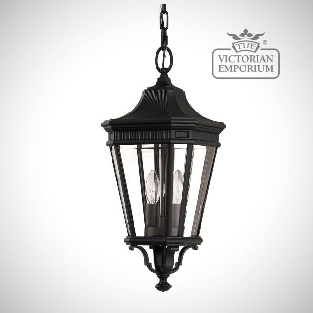 Cotswold Medium chain lantern in Black