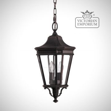 Cotswold Medium chain lantern in Bronze