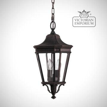 Cotswold Medium chain lantern in Bronze