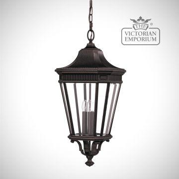 Cotswold Large chain lantern in Bronze