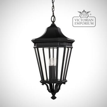 Cotswold Large chain lantern in Black