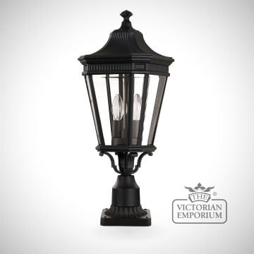 Cotswold medium pedestal lantern in Black
