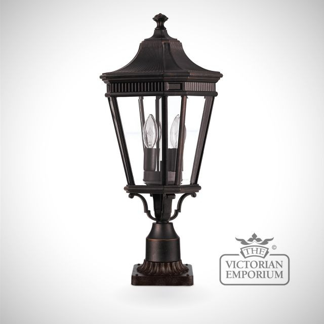 Cotswold medium pedestal lantern in Bronze
