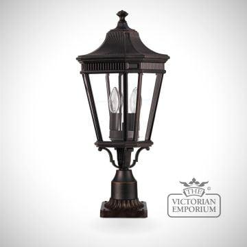 Cotswold medium pedestal lantern in Bronze