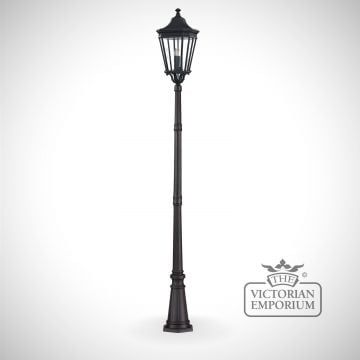Cotswold large lamp post and lantern in Black