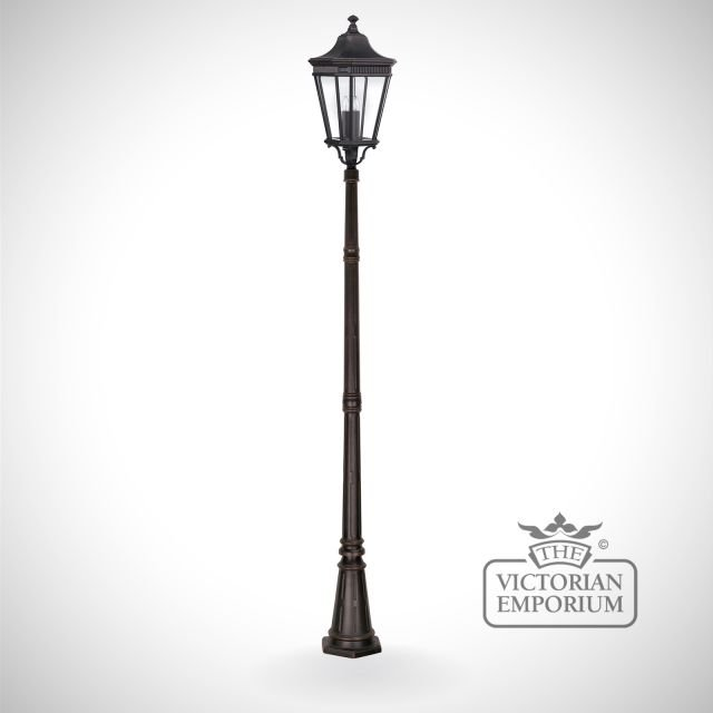 Cotswold large lamp post and lantern in Bronze