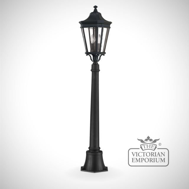 Cotswold medium pillar and lantern in Black