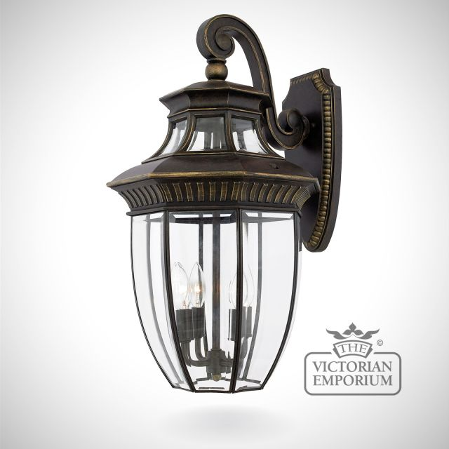 George Town large wall lantern in Imperial Bronze