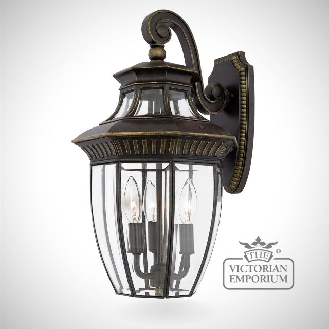 George Town medium wall lantern in Imperial Bronze
