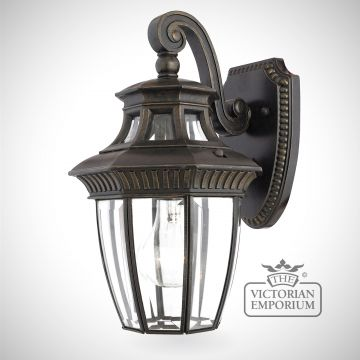 George Town small wall lantern in Imperial Bronze
