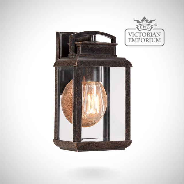 Byron small wall lantern in Imperial Bronze