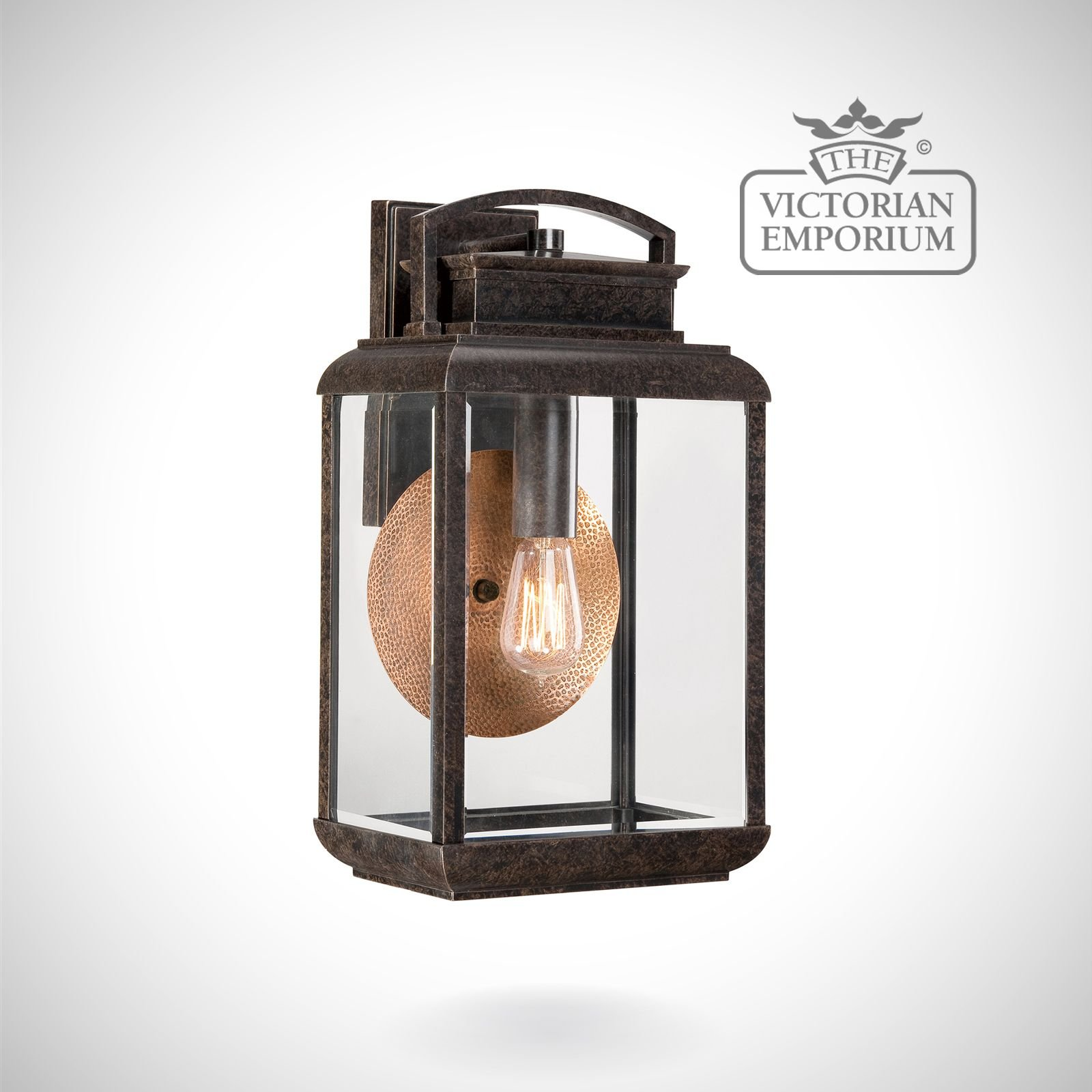 Large Lantern Wall Lights : Byron large wall lantern in Imperial Bronze Outdoor Wall Lights