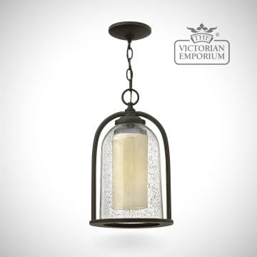 Quince chain lantern in oil rubbed bronze