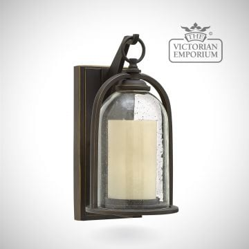 Quince small wall lantern in oil rubbed bronze