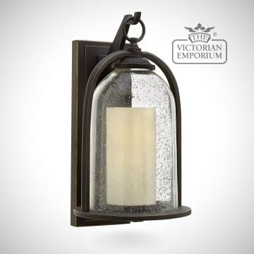 Quince medium wall lantern in oil rubbed bronze