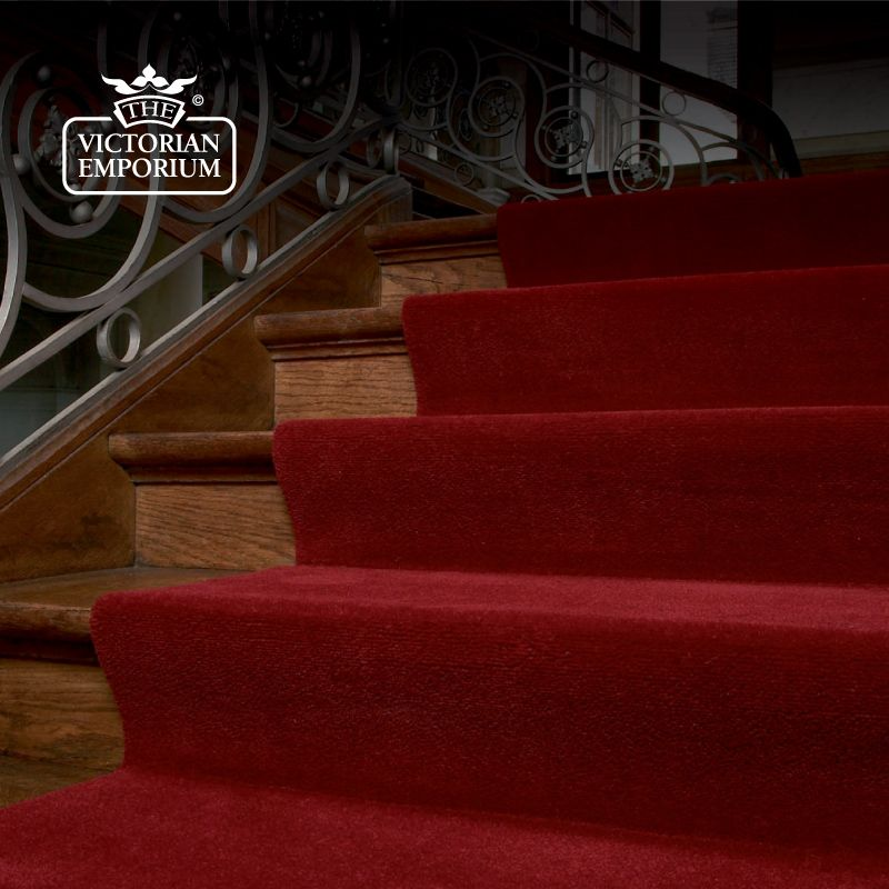 Victorian Stair Runner Carpet Plain Stair And Hall