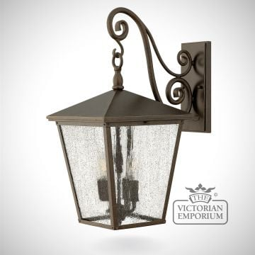 Trellis large wall lantern - Regency Bronze