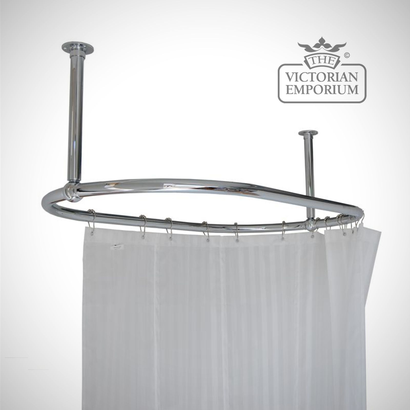 Shower Curtain Freestanding Bath