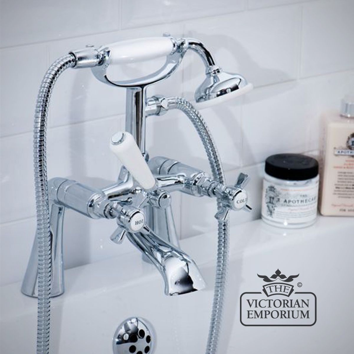 Covent Garden Cranked Bath Shower Mixer Tap | Bath taps and showers